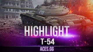 Неустаревающая классика World of Tanks - Т-54 на карте Эрленбёрг!