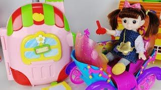 Baby doll Kindergarten carrier and carriage toys Surprise eggs play 말하는 캐리어 유치원 아기인형 마차 자동차 장난감놀이