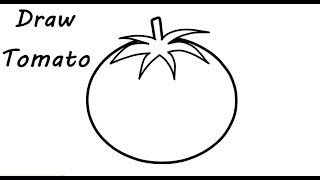 How to Draw Tomato Easy For Kids | Drawing Learning Videos |