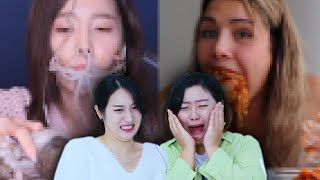 Koreans in their 30s React To CRINGE MUKBANGS