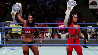 WWE 2K19 - Bella Twins vs Charlotte & Bayley - Smackdown Women's Tag Team Championship Match !!!!