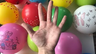 Играем Лопаем Шарики Учим цвета для Детей Песня Семья Пальчиков