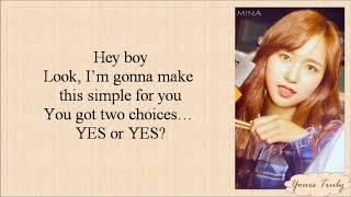TWICE (트와이스) - YES or YES (Easy Lyrics)