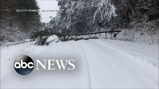 Massive winter storm blasts Southeast