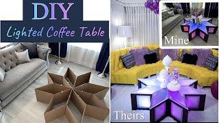 UNBELIEVABLE CARDBOARD COFFEE TABLE! DIY LIVING ROOM DECOR