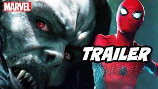 Morbius Trailer - Marvel Spider-Man Scene and Venom Easter Eggs