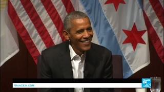 US - Former President Barack Obama delivers 1st post-presidency speech