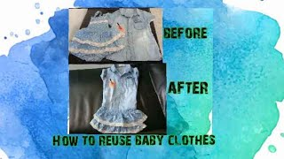 How to reuse baby clothes part 2