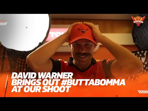 David Warner brings out Butta Bomma at shoot- IPL 2021