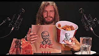 [ASMR] Eating KFC Chicken Family Feast [Crunchy Relaxing Triggers]