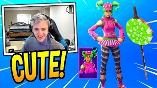 NINJA LOVES THE *NEW* ZOEY SKIN & LOLLIPOPPER PICKAXE! Fortnite SAVAGE & FUNNY Moments