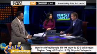 ESPN First Take   Incredible Stephen Curry Leads Warriors Go 20 0