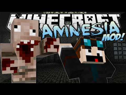 Minecraft | AMNESIA MOD! (Horror, Jumpscares & Evil Monsters!) | Mod Showcase