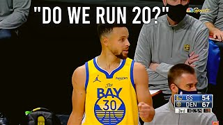 What Steph Curry SAYS during GAMES