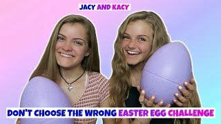 Don't Choose the Wrong Easter Egg Challenge ~ Jacy and Kacy