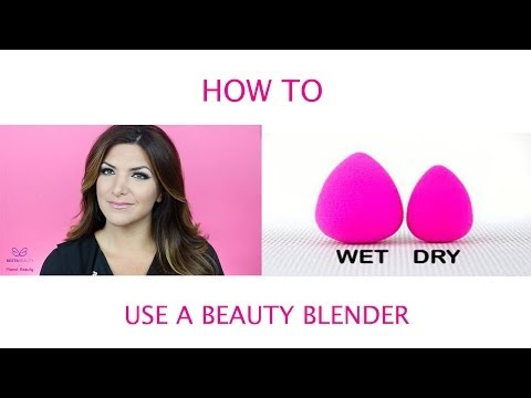How to use the beauty blender