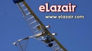 Electric powered ultralight aircraft, eLazair twin engine battery powered ultralight aircraft.