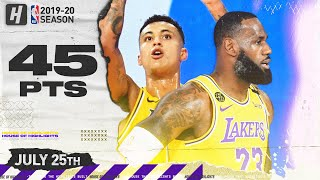 LeBron James & Kuzma 45 Pts Combined Highlights | Lakers vs Magic | July 25, 2020