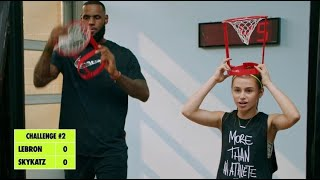 "Playing basketball w/ LEBRON for Nike's ""You Got Next"" series"
