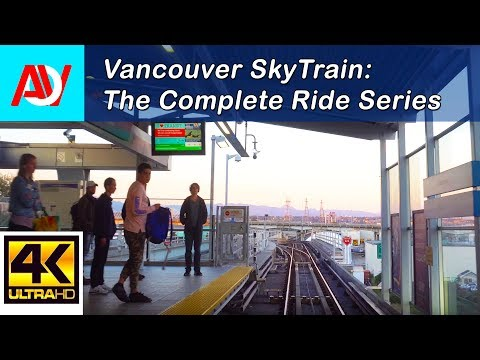 Vancouver SKYTRAIN: CANADA LINE INBOUND (SUNSET), YVR to Langara-49th - The Complete Ride 4K