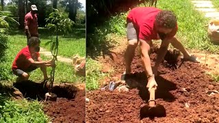 God of Cricket Sachin Tendulkar plants saplings, shares vi..