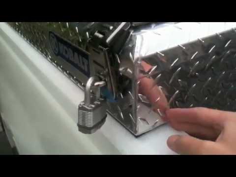 Kobalt Side Mount Truck Tool Box Review Youtube