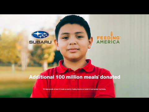 Love Promise Feeding America 2021: Right now, millions of Americans are still out of work and unable to access food for themselves or their families. When the pandemic began, Subaru and our retailers donated 50 million meals to Feeding America, but the need is still so great that we're doing it again. Subaru and our retailers are helping donate an additional 100 million meals to continue to help feed those in need. Visit www.subaru.com/help and follow #SubaruLovestoHelp.