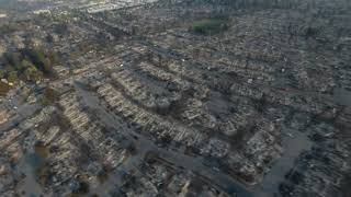 Aerial Video of the Destruction of Coffey Park in Santa Rosa (Monday, Oct. 9)
