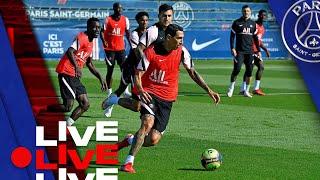 ⚽️ 15 minutes d'entraînement avant Paris Saint-Germain - Montpellier 🔴🔵