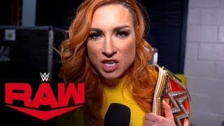 Becky Lynch wants a piece of Asuka: Raw Exclusive, Jan. 6, 2020