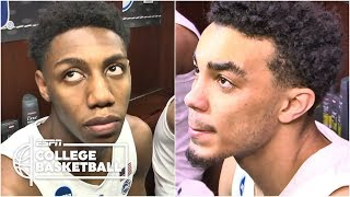 RJ Barrett, Tre Jones, Cam Reddish emotional after Duke's loss | College Basketball Sound
