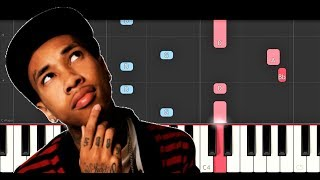 Tyga - Girls Have Fun ft G Eazy, Rich The Kid (Piano Tutorial)