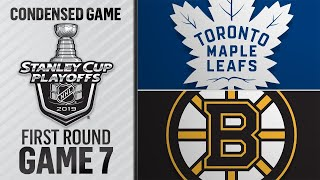 04/23/19 First Round, Gm7: Maple Leafs @ Bruins