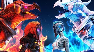 LAVA LEGENDS vs FROZEN LEGENDS! | A Fortnite Short Film