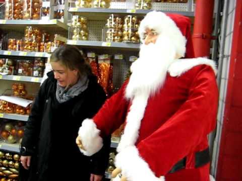 Colin visiting dancing Santa