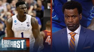 Zion declares for the NBA draft, Stephen Jackson reacts | CBB | FIRST THINGS FIRST
