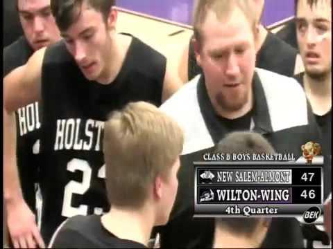 New Salem Almont vs  Wilton Wing High School Boys Basketball 2015