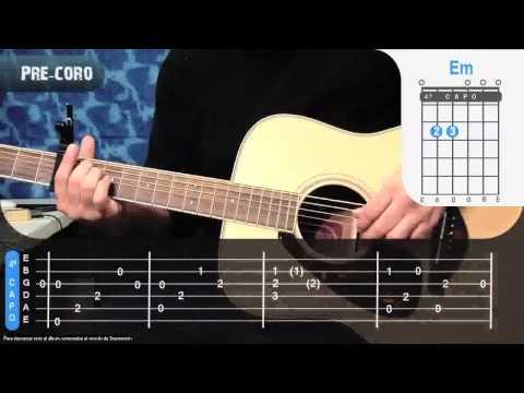 Alejate de Mi - Camila Guitarra Como tocar tutorial how to play