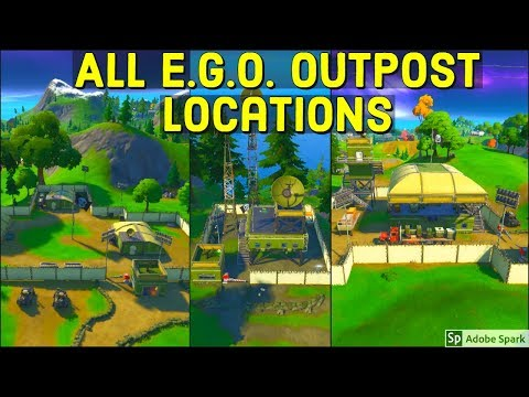 E.G.O. Outpost All Locations! - Search Chests at E.G.O. Outposts - The Lowdown Challenges Fortnite