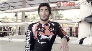 Elias Theodorou from TUF Nations trains at Tiger Muay Thai
