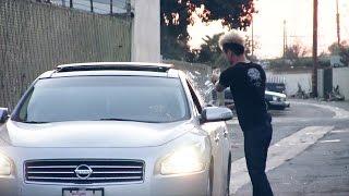 Breaking Car Window In The Hood PRANK!!