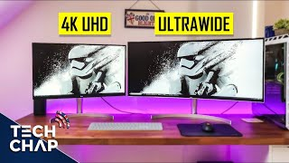 UltraWide 21:9 vs UHD 4K Monitors - Best for Work & Gaming? (2018) | The Tech Chap