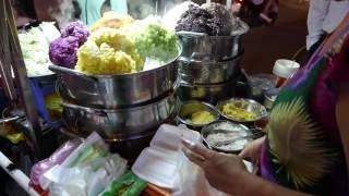 làm xôi ba màu đẹp mắt - ẩm thực đường phố Sài Gòn || street food vietnamese