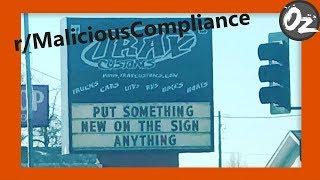 r/MaliciousCompliance   Story Time   episode 1