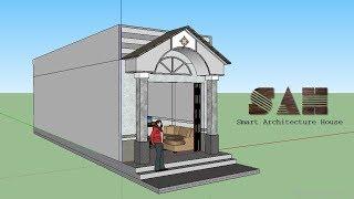 Nhà cấp 4 Đơn giản , Thiết kế nhà 3D - nhà cấp 4 nhỏ và rẻ tiền mặt tiền hiên thái | #SAH