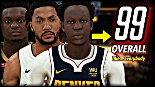NBA 2K20, but every player is a 99 overall