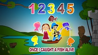 12345 Once I Caught A Fish Alive | Nursery Rhymes | Puzzle Toons