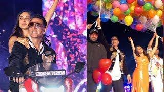 Akshay Kumar and Kiara Advani BIKE STUNT With Rapper Badsh..