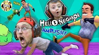 Hello Neighbor Story Mod!! Who Kicked Duddy? (FGTEEV Gameplay / Skit)
