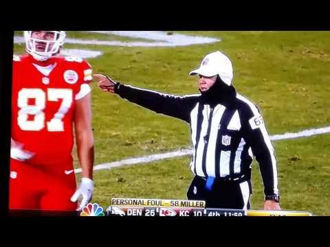 Travis Kelce #87 makes rude hand gesture at ref Kansas City Chiefs